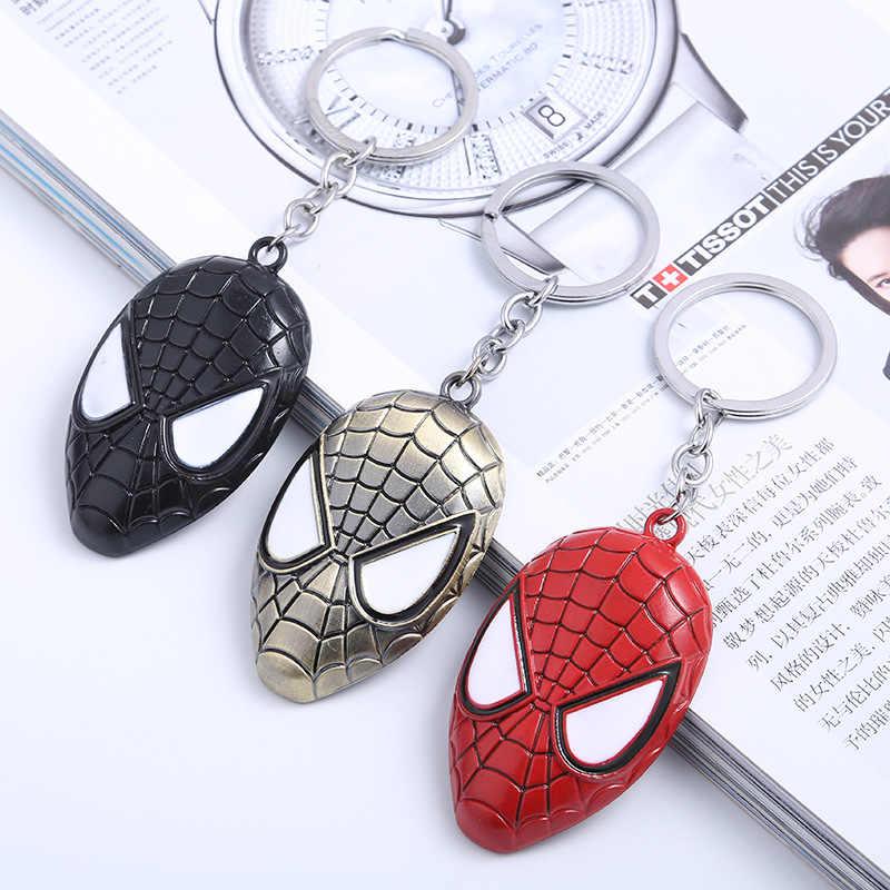 Metal marvel batman avengers capitão américa escudo chaveiro homem de ferro homem aranha máscara chaveiro brinquedos chaveiro chaveiro presente chave brinquedos