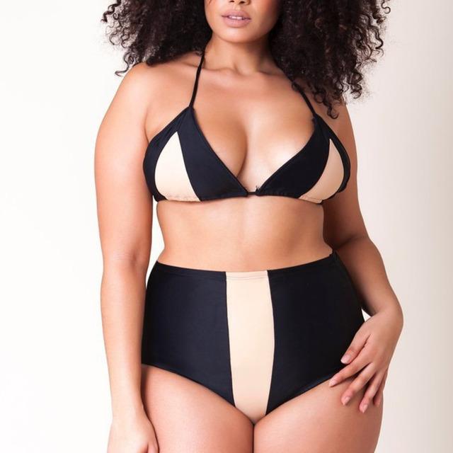 Plus Size Swimsuit Push Up Swimwear Women Bandage Bathing Suits Strappy Swimsuits Large Size Monokini Badpak Female 2018 Fatkini