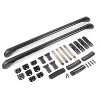 Anti Theft Car Roof Bars Adjustable Cross Bar System Universal Car Travel Luggage Carrier Lockable Aluminum Bars Rack