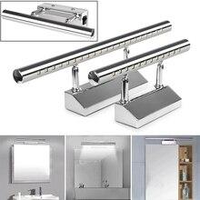Светодиодный настенный светильник минимализм зеркальный передний светильник для ванной комнаты макияж настенный светильник s современный алюминиевый настенный светильник