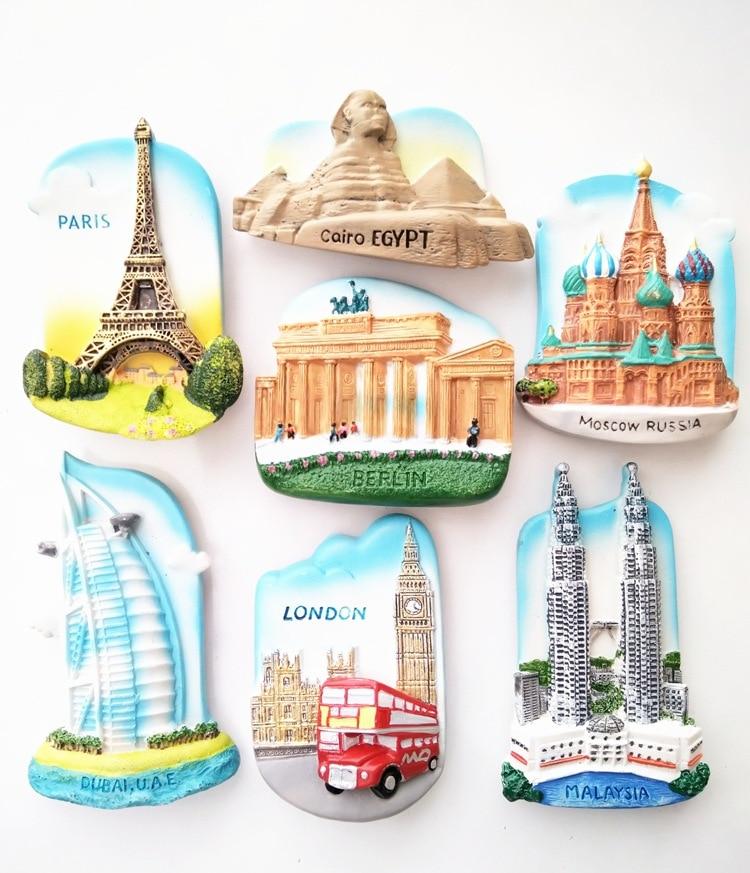 Lychee Scenic Spots Refrigerator Magnetic Sticker Famous Landscape Fridge Magnet Modern Home Kitchen Decoration