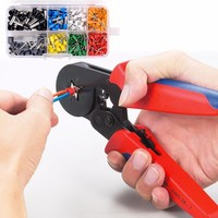 ( Free Shipping ) Hsc8 6 6 Crimp Pliers+ Tube Bootlace Terminals 460pcs 0.25 6mm 23 10awg Self Adjustable Hexagon Hand Tools