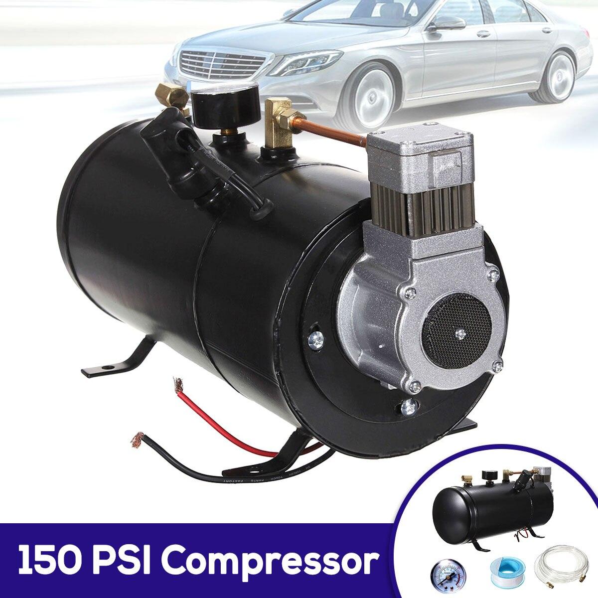 Compresseur d'air électrique de compresseur de 150 PSI 12 V avec la capacité de réservoir de 3 litres pour le pneu automatique de bicyclette de camion de Train de klaxon d'air H004