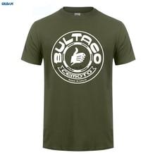 купить GILDAN  Men T Shirt 2017 Fashion funny streetwear brand clothing BULTACO Men's MOTO Short Sleeves New Fashion T-Shirt по цене 911.19 рублей
