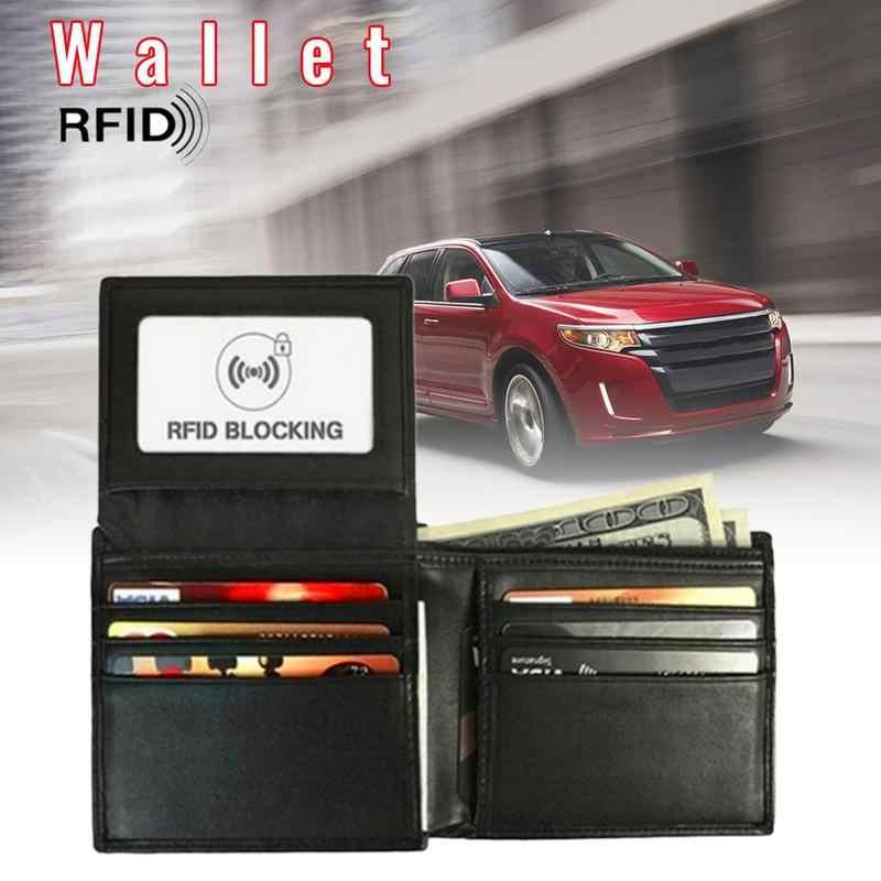 Автомобильная парковочная сумка для визитных карточек кожаный анти-магнитный Бумажник свободного листа мужской и женский анти-сканирующий Противоугонный кошелек