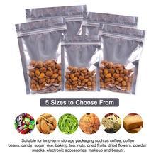 100 Pcs Clear Aluminum Foil Bag Self Seal Zipper Ziplock Packing Food Retail Resealable Baking Packaging Pouch