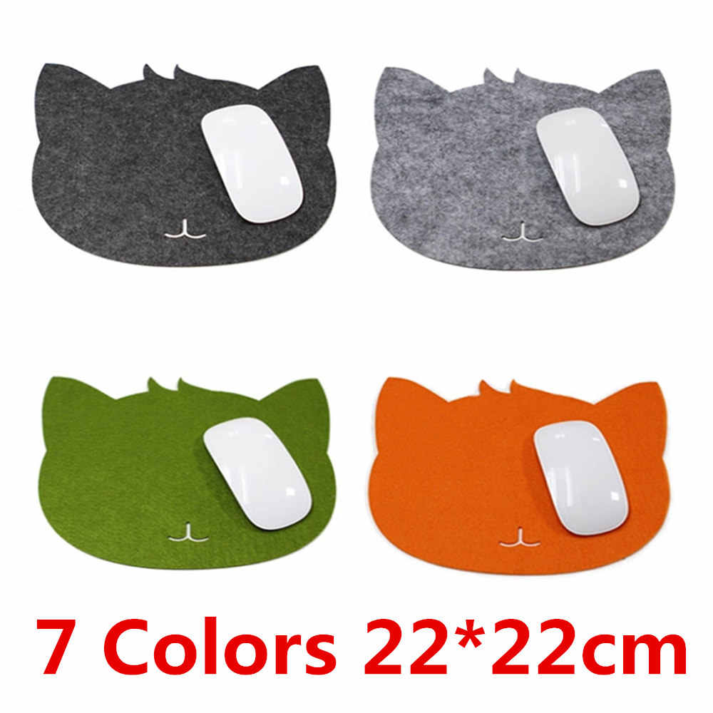 7 Warna Mouse Pad Kucing Bentuk Gambar Anti-Slip Laptop PC Mouse Pad Mat Mousepad untuk PC Laptop Komputer permainan Optik Mouse Mat