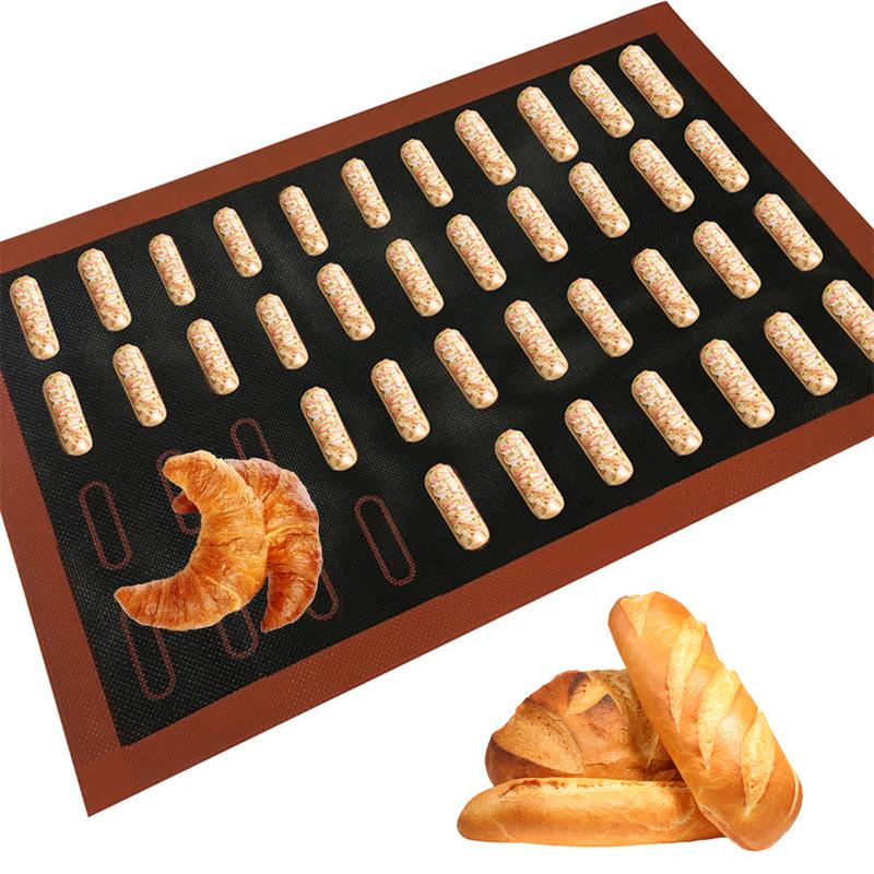 Perforated Silicone Baking Mat 18 Grid Non Stick Oven Sheet Liner Tool Macaron Cookie Biscuit Bread Mat Bakeware Accessories