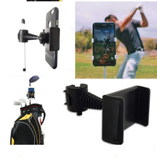 360 Degree Rotatable Golf Swing Recording Phone Holder Pull Cart Mount Clip for Smartphones 065 abs 360 degree rotatable multifunction mount holder for cellphone gps mp3 mp4 black