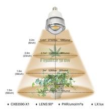 Figlite rosną 100W pełne spektrum COB CXB3590 oświetlenie LED do uprawy E27/E26 żarówka wymienić HPSL 400W