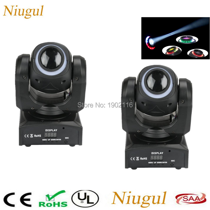 2pcs lot 30W LED Spot Moving Head Lights With 12Pcs RGB LED Strips USA Luminums 60W