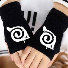 Winter Cotton Anime Naruto Sasuke Gloves Cartoon Cosplay Fingerless Glove Unisex Cosplay Warm Gifts 121601
