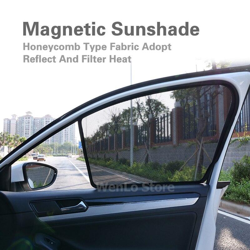 2 pièces pare-soleil magnétique de fenêtre latérale avant de voiture pour Mitsubishi ASX Pajero Outlander Pajero Lancer-ex fenêtre pare-soleil rideau voiture