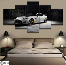 Home Decor Modular Canvas Picture 5 Piece Super Car Poster Art Painting Wall For Wholesale