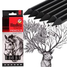 6 штук в упаковке, набор карандашей для рисования, Безлесные Графитовые карандаши 17,5 см 2H HB 2B 4B 6B 8B для художников, принадлежности для рисования