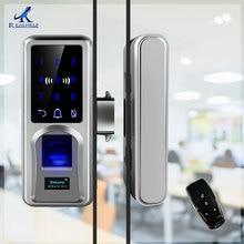 Door lock Fingerprint Lock Glazing Smart Remote cerradura inteligente Office Single Double Glass smart door