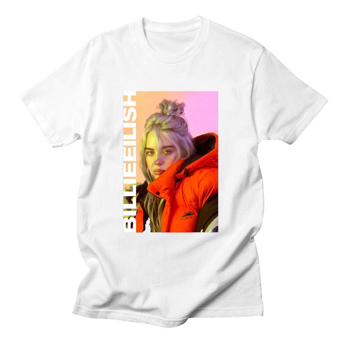 Eilish Corta Con Cuello La De Camiseta Vendimia Billie Música Redondo Algodón Manga oQsrdBxCth