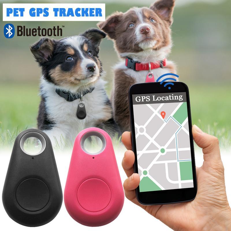 Nuevo rastreador inteligente Bluetooth para mascotas, localizador de cámara GPS para perro, rastreador de alarma portátil para llavero, bolsa colgante