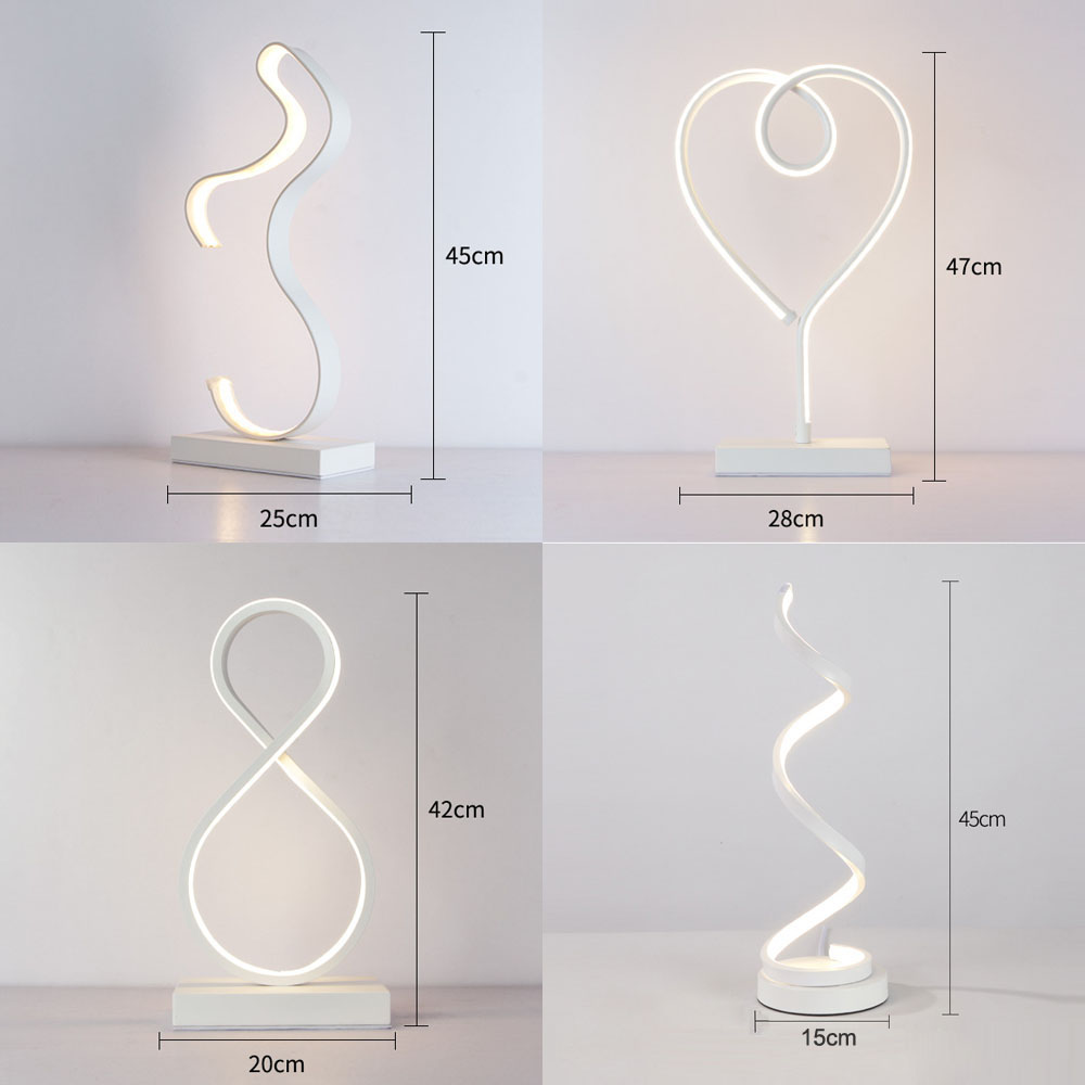 Nordic LED Table Light LED Table Lamps for Bedroom Indoor Decoration Desk Lights Reading Lighting Remote Control Study Desk Lamp in Table Lamps from Lights Lighting