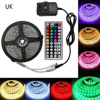 Bande de lumière LED 5050 rvb ensemble DC12V haute luminosité basse tension bande de lumière étanche coloré LED télécommande 44 clé TV retour