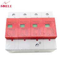 Circuit Breakers Protection B 420VAC SPD 40 80KA 4P Surge Arrester Protection Device Electric House Surge Protector Lightning