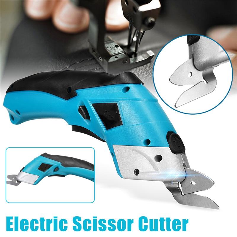 KIWARM 1PC 4V Electric Scissor Auto Cutter Cordless Tailors Scissors Rechargeable For Cutting Garment Fabric Portable