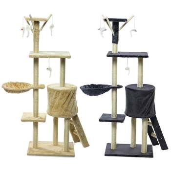 Tree Scratcher Pole Gym House Furniture 1