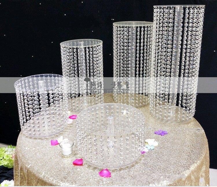 Rationeel Sparkling Crystal Clear Garland Kroonluchter Bruidstaart Stand Verjaardagsfeestje Supplies Decoraties Voor Tafel Top Centerpieces