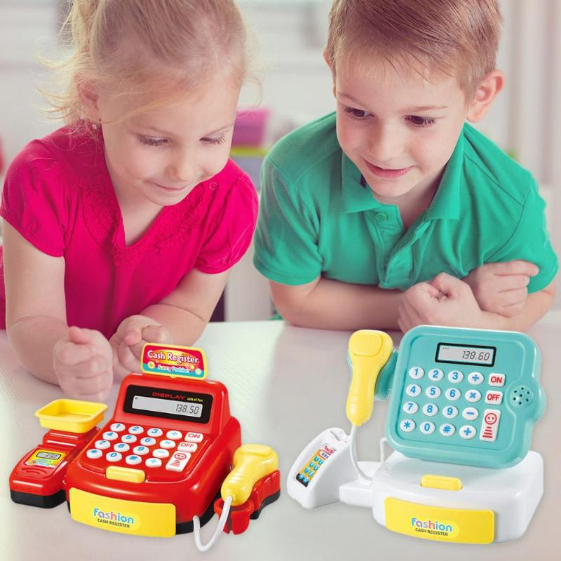 Simulated Supermarket Checkout Counter Role Cashier Cash Register Kids Toys 2019 New Creative Groceries Pretend Play Toys