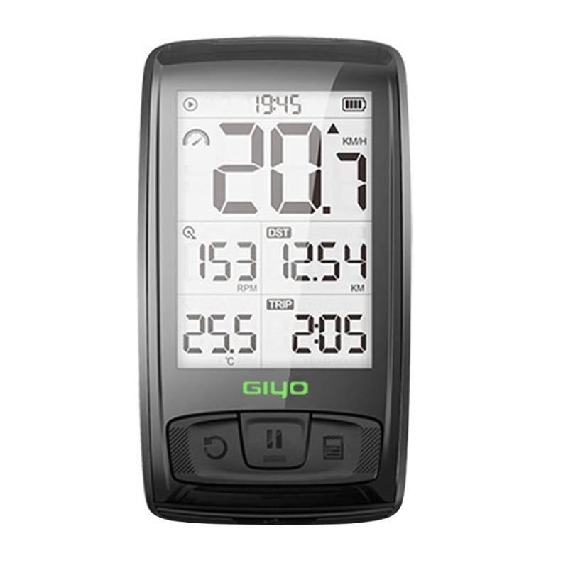 GIYO Cycling Computer Bluetooth Wireless Mountain Road Bike Speedometer Backlight Bicycle Odometer IPX5 Waterproof Speedometers