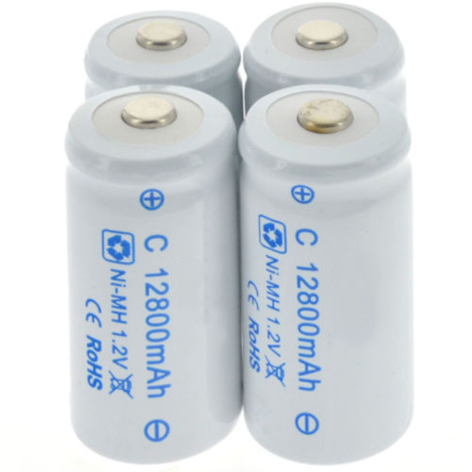 1-20pcs 12800mAh C Size Rechargeable Batteries 1.2V R14 C Cell NI-MH Battery