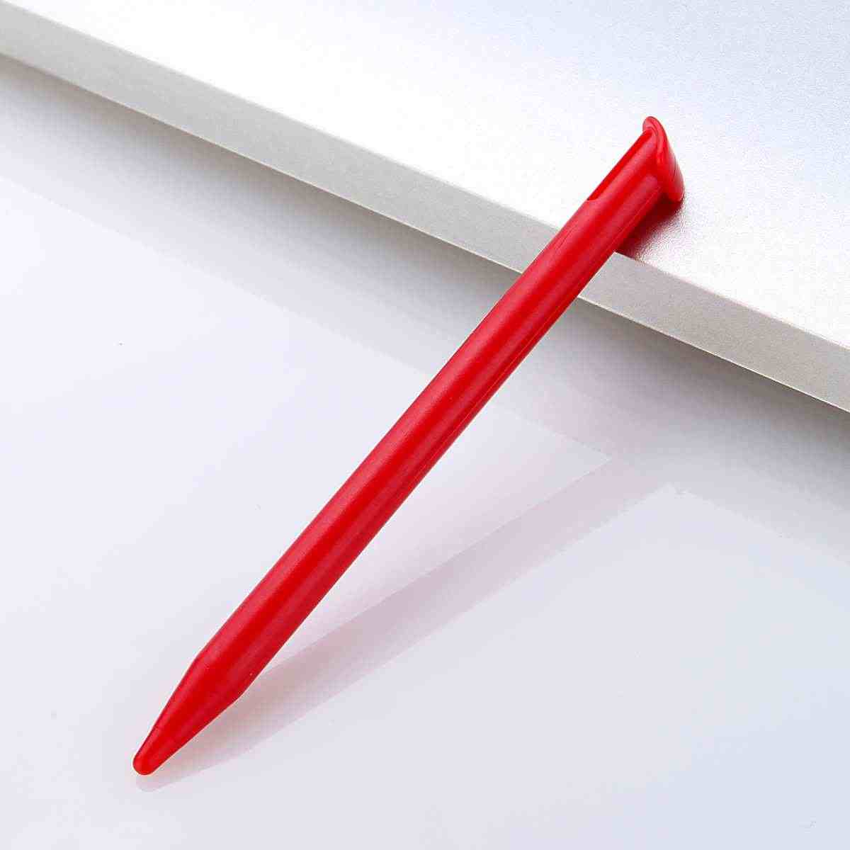 Merah/Biru/Hitam Kompak Layar Sentuh Plastik PC Pena Stylus untuk Nin Sepuluh Melakukan Baru 3DS XL/ LL Plastik Sentuhan Halus