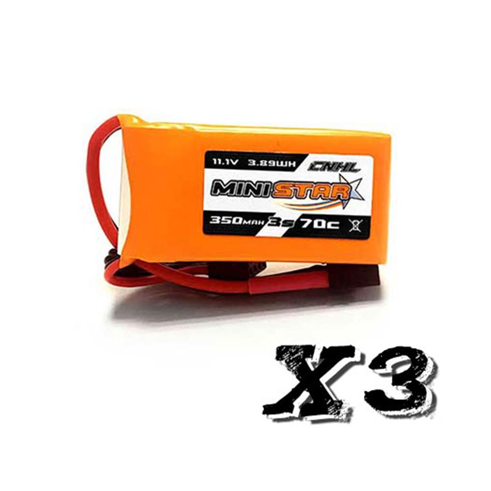 3 PCS CNHL MiniStar Batteria Lipo 3 S 11.1 V 350 mAh 70C con XT30 Spina per RC Drone FPV da corsa3 PCS CNHL MiniStar Batteria Lipo 3 S 11.1 V 350 mAh 70C con XT30 Spina per RC Drone FPV da corsa