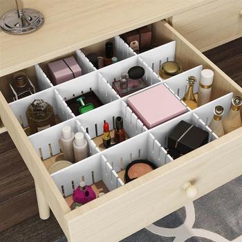OUNONA 5 sztuk z tworzywa sztucznego przegroda szuflady do przechowywania w gospodarstwie domowym układ szuflady partycji dla makijaż kosmetyki skarpetki bielizna tanie i dobre opinie As Description Clothing Storage Wardrobe Storage Drawer Organizers Drawer Organizers Box