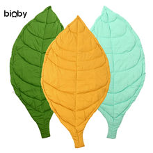 Large Baby Kids Gym Game Activity Play Mat Leaf Crawling Rug Carpet Cotton Blanket Nursery Bedroom Decoration 3 Colors 110x55cm(China)