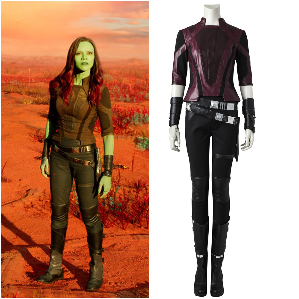 Guardians of the Galaxy Vol 2 Gamora Cosplay Costume Jacket Handmade