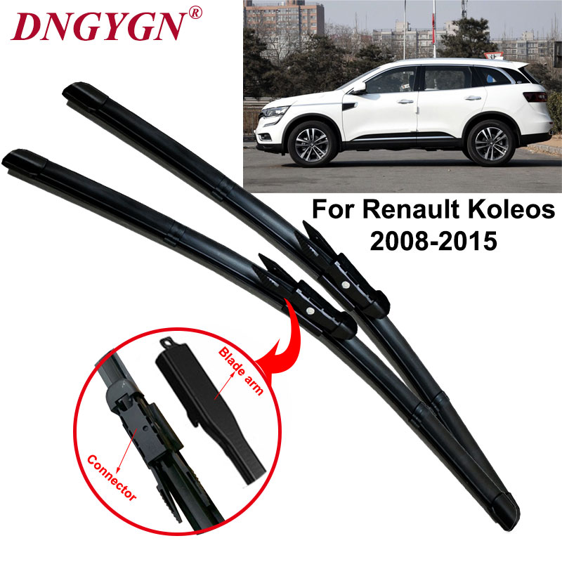Car Wiper Blades For Renault Koleos Windscreen Wipers Rubber Windshield Brushes Fit Pinch Tab From 2008 to 2015