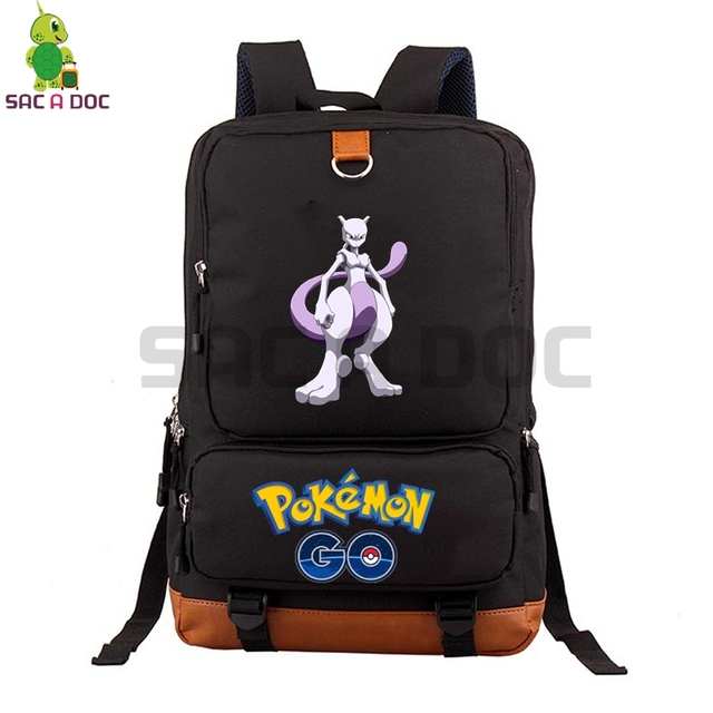 a561c3e8f289 Pokemon Go Mewtwo School Bag Laptop Backpack for Teenage Boys Girls Canvas  Travel Bags Women Men Pokemon Daily Backpack