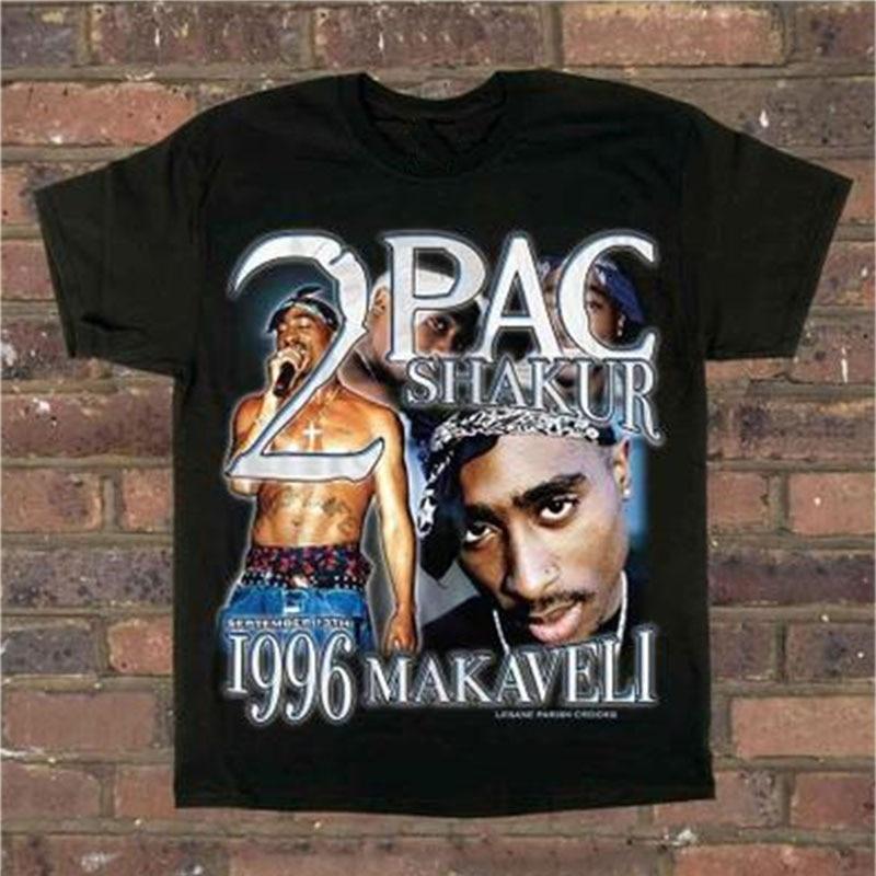 2PAC Tupac t-shirt Kanye ange anatomie canard In utérus top T-Shirts Gangsta Rap Tupac Hip Hop streatwear Tupac Tee 2PAC t-shirts
