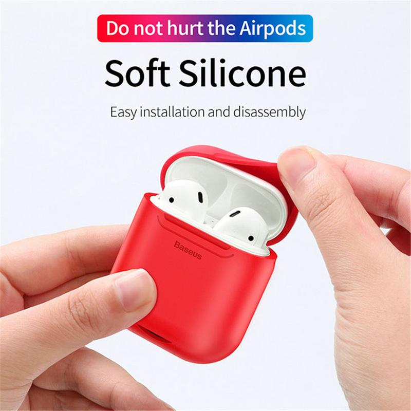 Image 4 - Portable Protector Wireless Earphones Charging Receiver Case Silicone Soft TPU Ultra Thin Protective Cover For Apple Airpods-in Earphone Accessories from Consumer Electronics