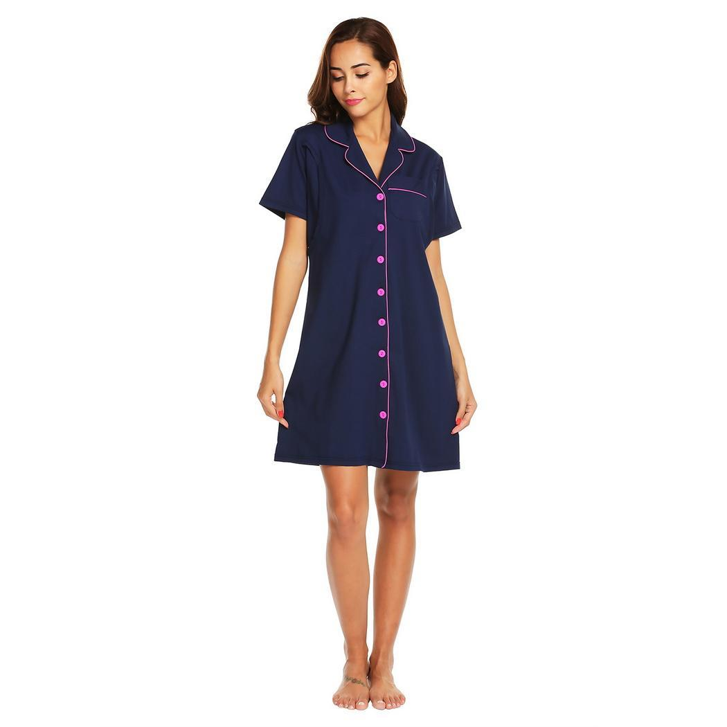 fb3fd895f1e Detail Feedback Questions about Maternity Nursing Breastfeeding Sleep Shirt  Nightgowns Women Contrast piping Button Front Loungewear Sleep