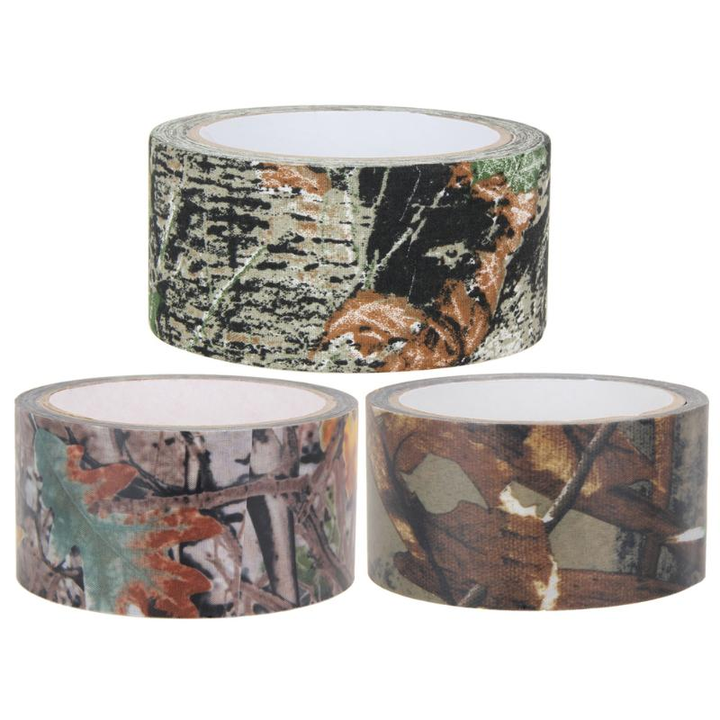 10m Waterproof Bandage Camo Cloth Tape Gun Hunting  Outdoor Bionic Leaves Camouflage Tape Wrap for Camping Tactical Outdoor Tool