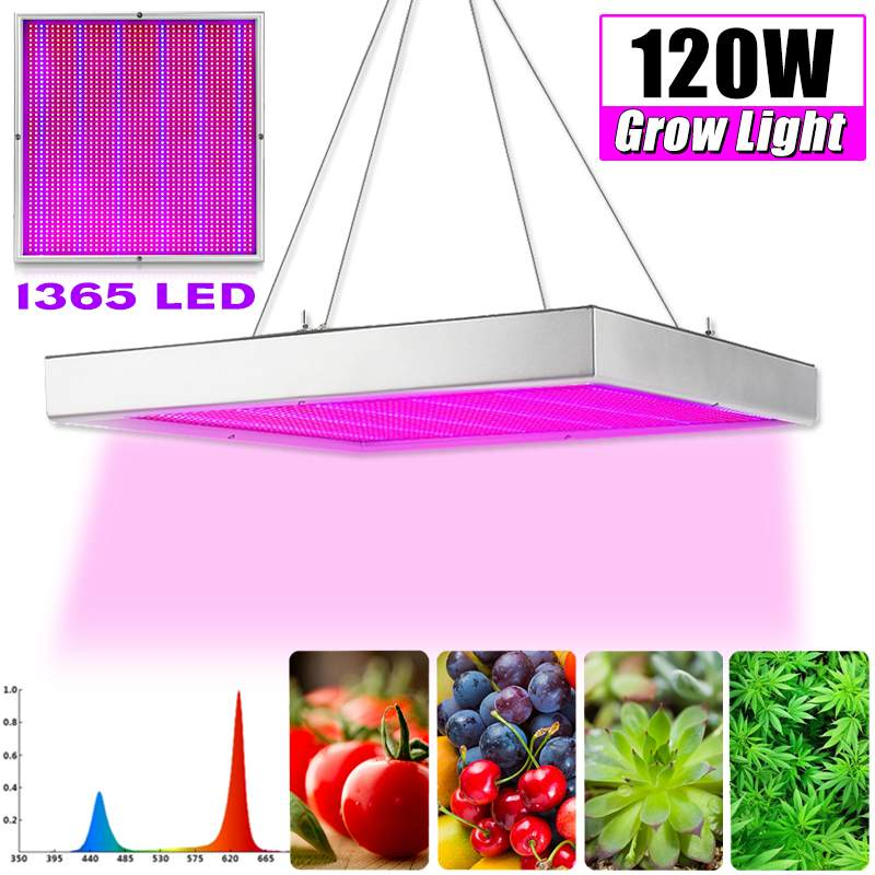 120w Growing Lamps Led Grow Light Ac85-265v Full Spectrum Plant Lighting Fitolampy For Plants Flowers Seedling Cultivation