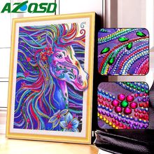AZQSD diamant peinture cheval forme spéciale artisanat Art diamant broderie Animal strass photo mosaïque décor à la maison(China)