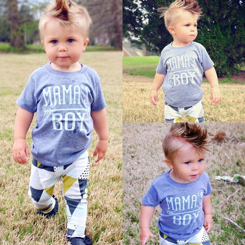 2019 Pasgeboren Baby Boy Kleding Zomer Baby Jongens Kleding Set Katoenen Baby Kleding Pak (t-shirt + Broek) Brief Baby Kleding Set