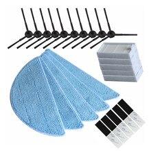 10x side Brush+5x hepa Filter+5xMop Cloth+5xmagic paste accessories for ilife v5s ilife v5 pro x5 V5 V3 V50 vacuum cleaner par цена и фото