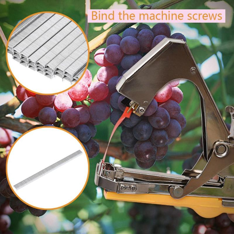 Image 4 - Tying Machine Garden Plant Tapetool Tapener with 10 Rolls Tape Set and 1Box Nail for Vegetable Grape Tomato Pruning Tools-in Pruning Tools from Tools