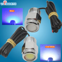 12w Yacht light 1 pcs cob underwater for boats with waterproof ip68 driver 12v 24v outdoor lighting fishing