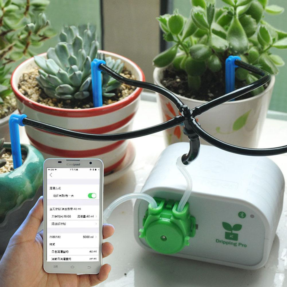 Cell Phone Control Intelligent Garden Automatic Watering Device Succulents Plant Drip Irrigation Tool Water Pump Timer