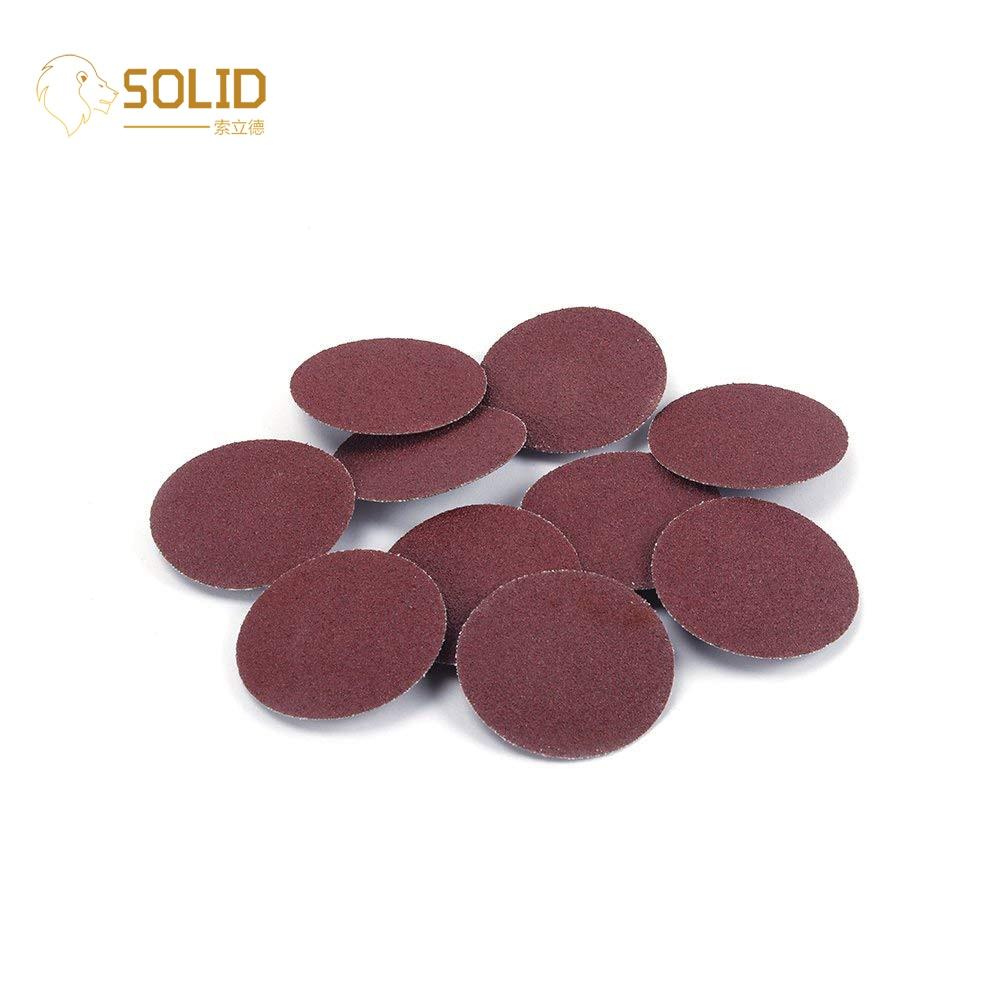 50Pcs 2 Inch Sanding Discs Quick Change Abrasive Roloc Roll Lock Type R 40 Grit